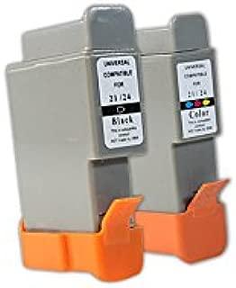 Compatible con Calcomp Techjet Designer Plotter tintas Conjunto Negro, Cian, Magenta, Amarillo - BCI-21BK & BCI-21C / 0954A002 & 0955A002 - Inhalt: 9,2 ml & 12,6 ml: Amazon.es: Oficina y papelería