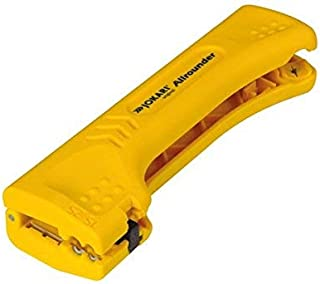 JOKARI 30900 Allrounder Cable Stripper for Multiple Round and Flat Cables, Yellow
