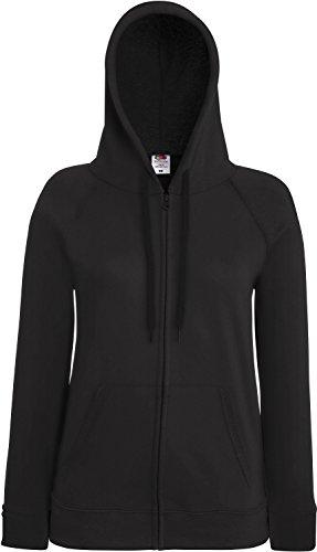Fruit of the Loom Lightweight Hooded Sweat Jacket Lady-Fit Damen Kapuzen Sweat-Jacke, Größe:XL, Farbe:Graphit