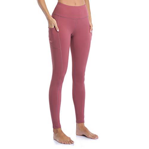 OJIRRU Leggings Donna Fitness Allenamento Opaco Vita Alta Sportivi Yoga Spandex Palestra Pantaloni Dp16 (Morbido Rosa L)