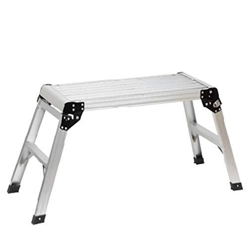 Escalera plegable Aleación de aluminio ultraligero Escalera, multifuncional Paso Las escaleras de tijera de renovación de heces familia de plataformas de trabajo portátil Multifuncional