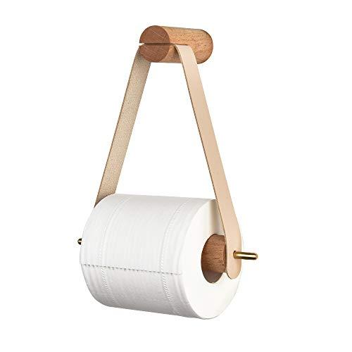 Toilettenpapierhalter Vintage Klopapierrollenhalter Holz für WC Badezimmer Wandhalterung Rollenhalter Bad Dekoration