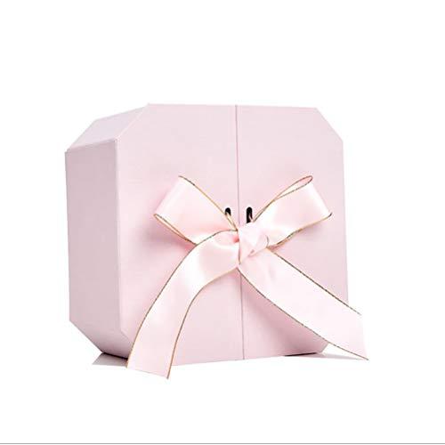 BSTQC Caja Caja de Regalo Caja de Regalo Rosada del lápiz Labial de Regalo Surtido de Regalos de Boda de Vacaciones de Navidad Pintalabios Rosa Caja de Regalo