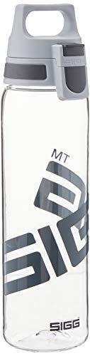 SIGG Total Clear ONE Anthracite Trinkflasche (0.75 L), schadstofffreie und auslaufsichere Trinkflasche, leichte und bruchfeste Trinkflasche aus Tritan