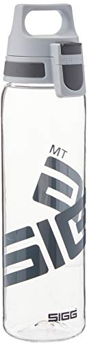 SIGG Total Clear ONE Anthracite, Sport Trinkflasche, 0.75 L, Tritan, BPA frei, Transparent