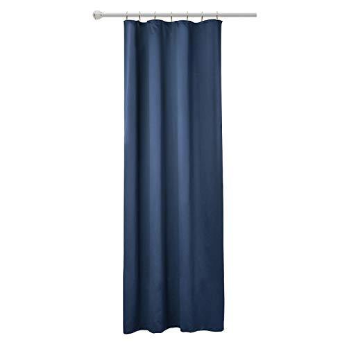 WOLTU VH5868dbl, Vorhang Gardinen Blickdicht mit kräuselband für schiene, Leichter & weicher Verdunklungsvorhang für Wohnzimmer Schlafzimmer, 135x245 cm Dunkelblau, (1 Stück)
