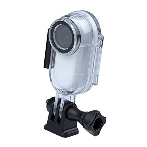 H HILABEE Carcasa Protectora de estabilización de Caja de Buceo de Acero Inoxidable 316 para cámaras de acción Go 2 para Go 2 Snorkel Vacaciones Surf,