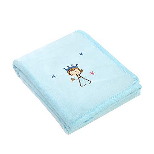 Couverture en Flanelle Soft Throw Blanket Convient aux bébés Enfants Couverture Nap Quatre Saisons Universelle,Rose,100x80cm