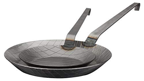 GSW 860222 Pfannen-Set Gastro traditionell Eisen geschmiedet 2-tlg, silber