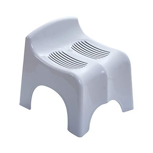 GCP Robusto Plástico Banquito,Anti-resbalón Usar-Resistente Niños Baños Reposapiés Cambiar El Reposapiés del Zapato-Gris 31x26x30cm(12x10x12inch)
