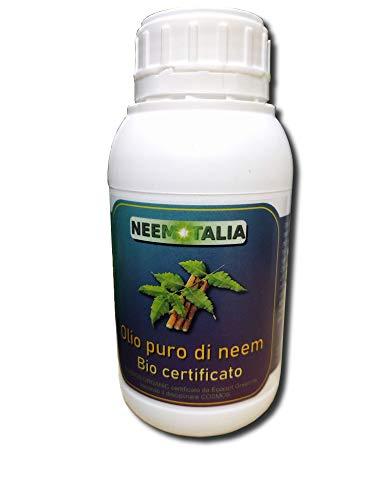 Olio puro di neem per la pelle 500 ml. Biologico