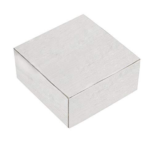 Block Stahlblock, 6.3x6.3x3cm Block Amboss Quadrat Werkzeug Schmuck Juweliere Büchsenmacher Metall Stahlblock