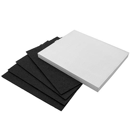 vhbw Filter Set passend für Winix P150 Luftreiniger - Ersatz für Winix 15HC, WRF15-HC, 123050 (4x Aktivkohlefilter + 1x HEPA-Filter) Luftfilter
