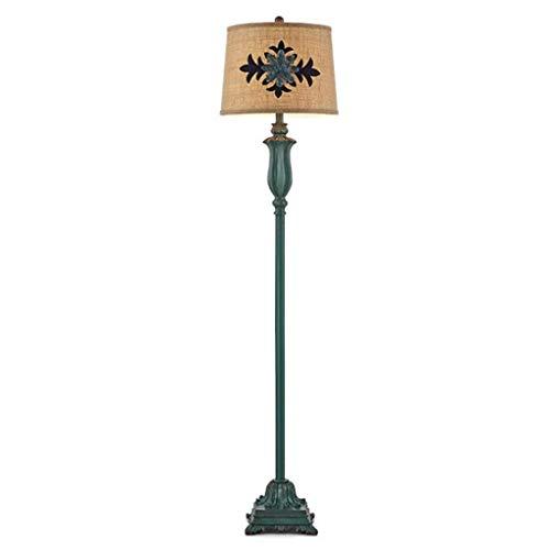 XCY Lámpara de Pie Dormitorio Estudio Sala de Estar Decoración Creativa Retro Americana Ajustable Luz Vertical Lámpara de Cama de Noche Vertical (Edición: Interruptor de Pie),Interruptor de Tracción,