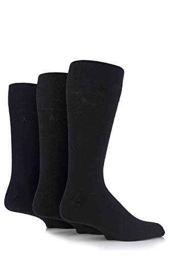 Pringle Herren 3 Paar Dunvegan Gentle Grip Plain Cotton Socks Schwarz