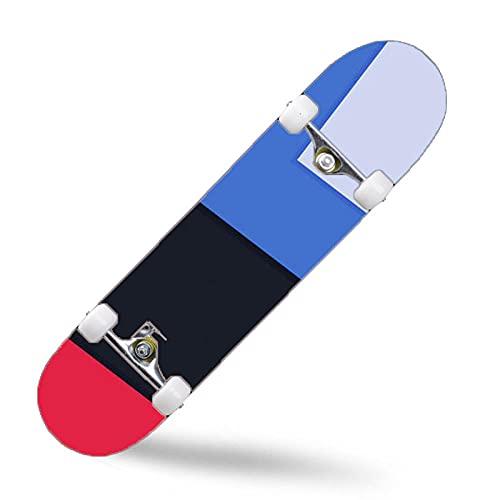 ZASX Tabla Completa de Skate de 31 x 8 Pulgadas, con rodamientos de Bolas ABEC-7,Arte minimalistaMadera de Arce de 8 Capas Adecuada para niños, Adolescentes y Adultos, con un Peso de 150 kg.