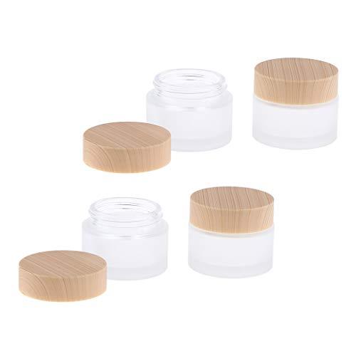 50g B Blesiya 2x Pot Vide en Verre R/écipient Cosm/étique avec Couvercle pour /Échantillon de Cr/èmes Stockage de Maquillage
