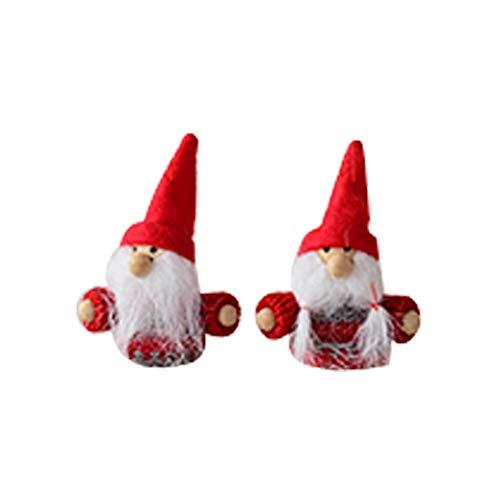 Brookton Jul tecknad karaktär ornament, köp ett par juldekorationer eller presenthängen det bästa valet för att dekorera en julgran (Stil10)