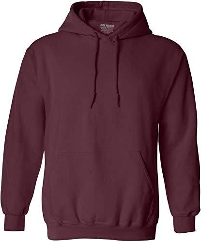 Joe's USA Hoodies Soft & Cozy Hooded Sweatshirt,Large Maroon