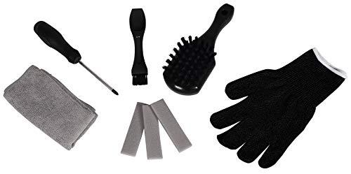 Einhell Original Set de limpieza (para la limpieza+mantenimiento de todos los robots cortacésped de Einhell, incl. almohadilla lijado, espátula, cepillos, destornillado, toalla microfibras, guantes)