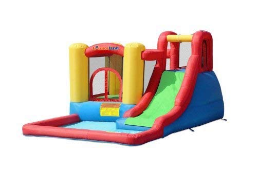 Bounceland Jump and Splash Adventure Bounce House or Water Slide All in one, Large Pool, Fun...