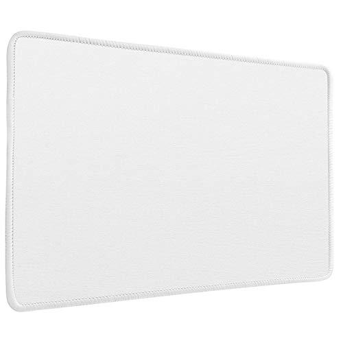 LIEVD Gaming Mauspad | 280 x 200 mm | Schreibtischunterlage Flüssigkeitsabweisend | Mousepad rutschfest für verbesserte Geschwindigkeit | Tischunterlage wasserabweisend | PC Matte – Weiß