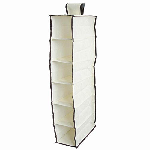 LIMMC Bolsa de almacenamiento de 4 secciones de tela no tejida para...