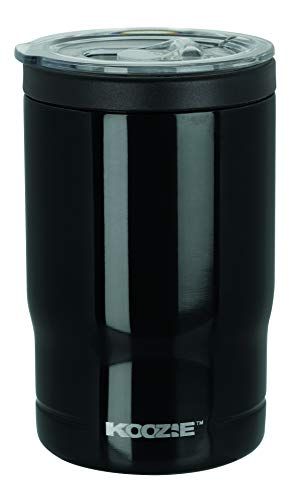 Koozie Stainless Steel Double Wall Vacuum Insulated Triple Can Cooler, Bottle or Tumbler - 12 oz. (Black)