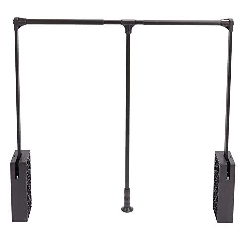 TANKE Riel para guardarropa - Elevador de riel para guardarropa abatible Varilla para guardarropa Plegable Organizador de suspensión para Elevador de guardarropa retráctil, 32.68-45.28in
