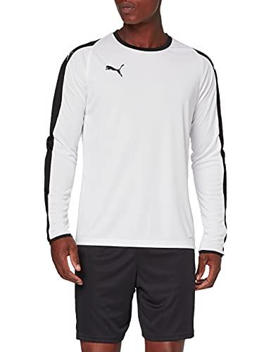 PUMA Liga Jersey LS, Felpa Uomo, Bianco (White/Black), M