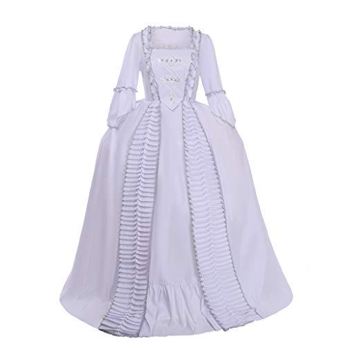 Fortunehouse Marie Antonieta Traje Blanco Vestido De Noche Del Siglo XIX Renacimiento Vestido De Bola Victoriano