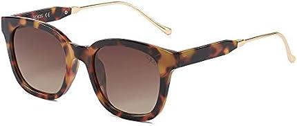 SOJOS SJ2050 - Gafas de sol polarizadas clásicas cuadradas, unisex, UV400, Marrón, tamaño más grande