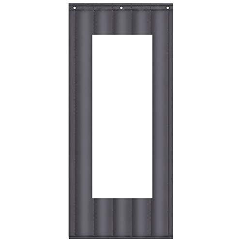 JINGMAI Isolierter Türvorhang, Verdicken Winter Wärmeschutzvorhang, Kältefest Thermovorhang Zum Fabriken, 50x150cm Fenster Anpassbar (Color : Gray, Size : 1x2.4m)