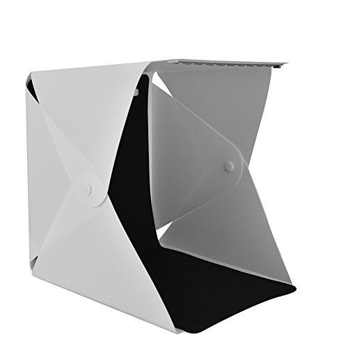 Tosuny Mini Foto Studio Set, tragbare Faltbare Studio Fotografie Lichtbox, Mobile Lichtzelt Kit mit 4 Farben Hintergründen (Weiß, Schwarz, Rot, Grün)...