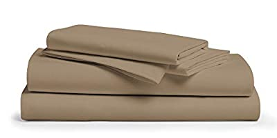 "800 Thread Count 100% Pure Egyptian Cotton – Sateen Weave Premium Bed Sheets, 4- Piece Taupe Twin - Size Luxury Sheet Set, Fits mattresses Upto 18"" deep Pocket"