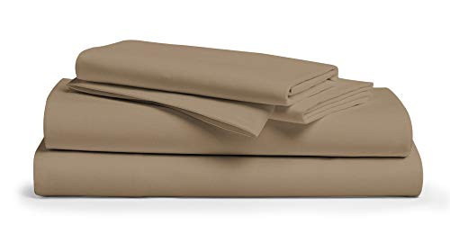 500 Thread Count 100% Cotton Sheet Taupe Full Sheets Set,...