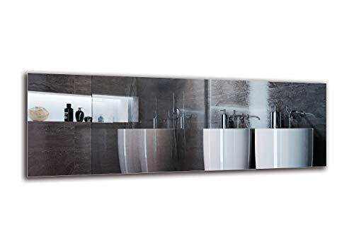 Espejo Standard - Espejo sin Marco - Dimensiones del Espejo 200x70 cm - Espejo de baño - Espejo de Pared - Baño - Sala de Estar - Cocina - Hall - M1ST-01-200x70 - ARTTOR