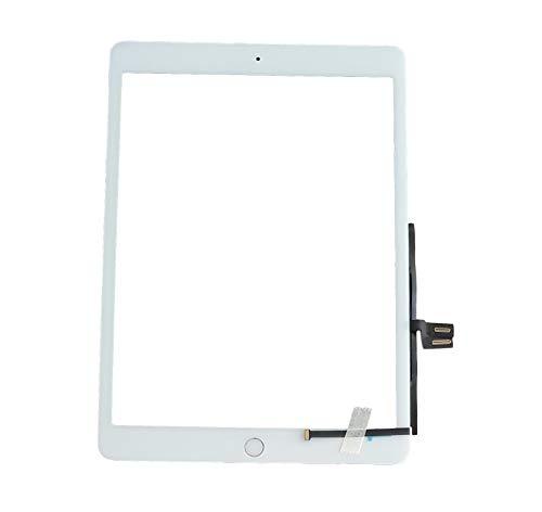 Smartex® Touch Screen Glass Digitizer WEIßE kompatibel mit iPad 7 2019 (A2197 A2200 A2198) - Home Button, Aufkleber & Werkzeugset inklusiv
