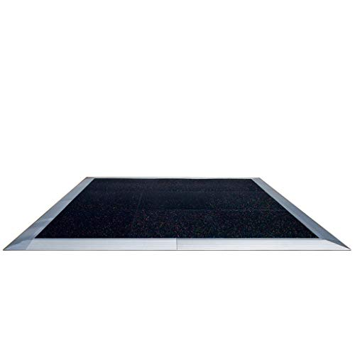 TentandTable 12-Foot, 15-Foot, or 20-Foot Square Colored Tile Commercial Grade Dance Floor with Aluminum Edge for Parties, Weddings, and Events (Black, White, Checkered, or Wood)