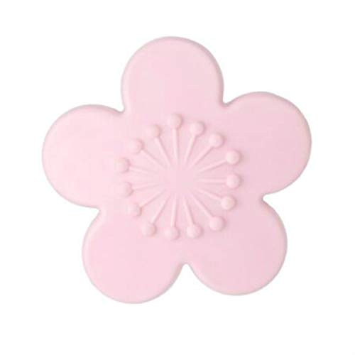 Productos domésticos MMGZ 2 PCS práctica silicón de la Forma del Flor de Cereza Pared del Protector de la manija de Puerta Crash Pad Muebles Accesorios (Rosa) (Color : Pink)