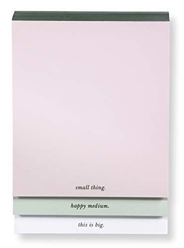 Kate Spade New York Stacked Desktop Notepad, Includes 3 Memo Pads with 75 Sheets, Colorblock