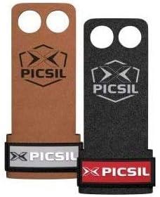 PICSIL Raven Calleras para Cross Training, Grips de Cuero Sintético de 2 Agujeros, 1 mm de Grosor, Agarre Natural, Mayor Sensibilidad en los Ejercicios, para Halterofilia, Box, Powerlifting