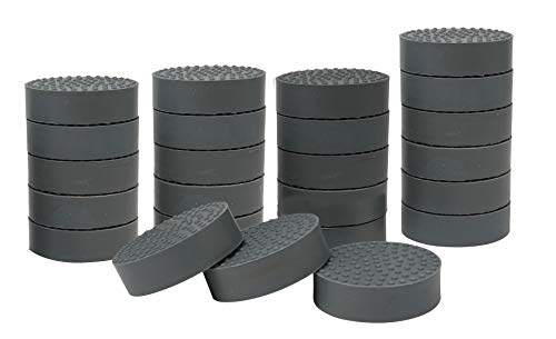 homekit Flower Pot Feet; 24 Pieces; Grey; Rubber – Non-Slip Invisible Risers for Gardening Plants Indoor and Outdoor