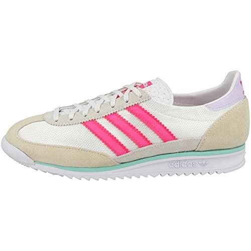 adidas Originals SL 72 W, Footwear White-Solar Pink-Cream White, 5