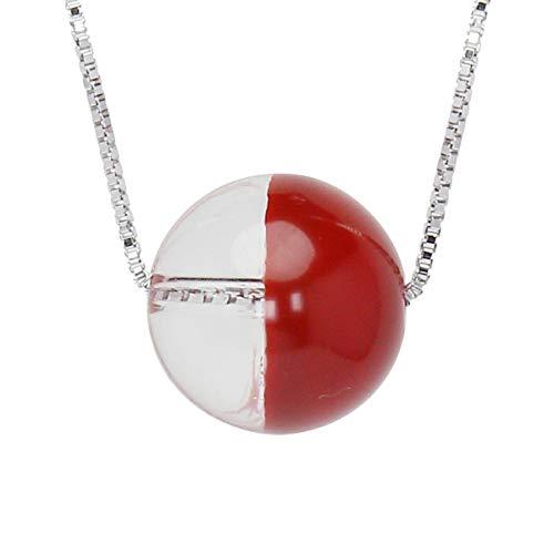 真珠の杜 水晶 ネックレス クォーツ SV925 シルバー925 銀 色漆 赤色 朱色 銀色 ペンダント スルーネックレス レディース 誕生石 4月 dpn658-714rps