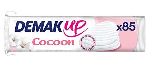 Demak Up Cocoon Set 85 wattenschijfjes om make-up te verwijderen, katoenen schijven