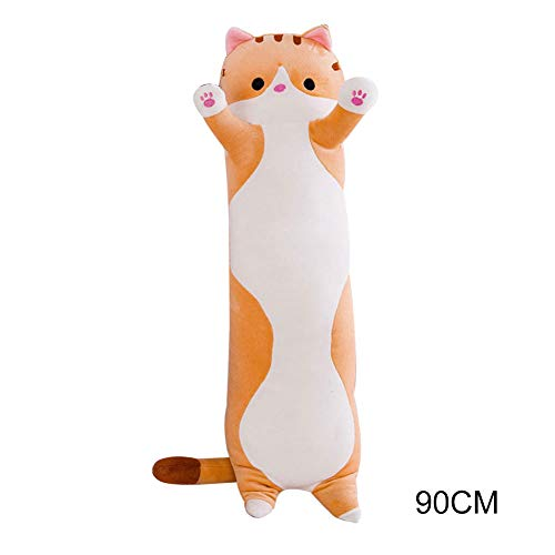 Ohyoulive Cute Plush Cat Doll Soft Stuffed Kitten Pillow Doll Toy Gift for Kids Girlfriend Creative New Long Cat Plush Toy Pillow Cute Doll Ragdoll Gift Sofa Supplies Soft and Good Breathability