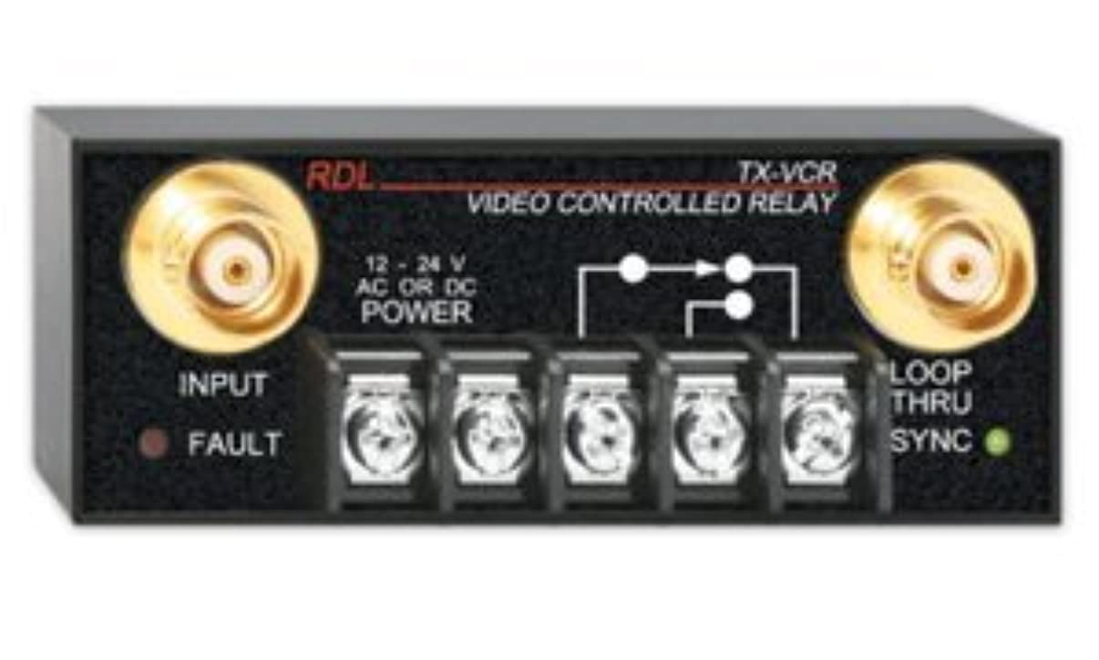 Radio Design Labs RDL TX-VCR Video Controlled Relay - BNC
