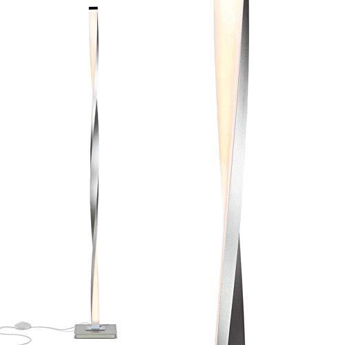 ZaiQu ModernLED Luces de Piso for Sala de Estar de pie Pole LED Lámpara de pie for los dormitorios Oficinas Brillante Regulable Lámpara de Mesa decoración de Interior (Color : Dimming, Size : Sliver)
