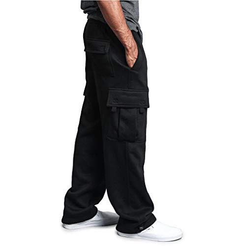 Casual Sweatpants Herren Fitness Sportbekleidung Pocket Overalls Cargo Chino Jogginghose MäNner Jungen Jogger Baumwolle Slim Fit Trainingshose Tanzhose Blanko Bedrucken Sweathose Dance Hose
